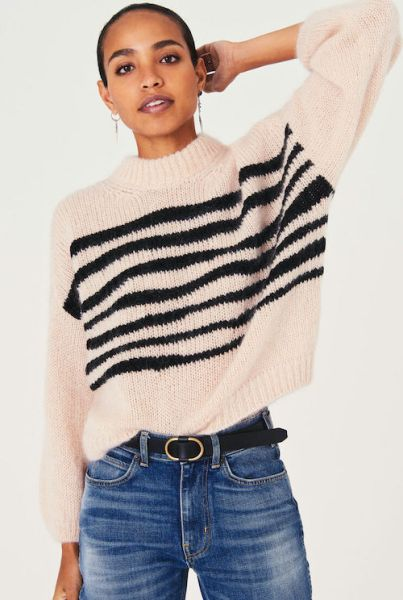 French Clothing Brand Ba&sh Parisian Style Jumper Sweater Paris Chic Style