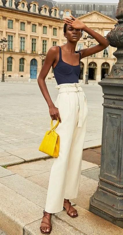 French Clothing Brand Ba&sh Parisian Style Pants Paris Chic Style