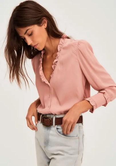 French Clothing Brand Ba&sh Parisian Style Shirt Top Paris Chic Style
