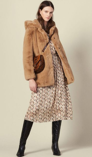 French Clothing Fashion Brand Parisian Style Faux Coat Paris Chic Style