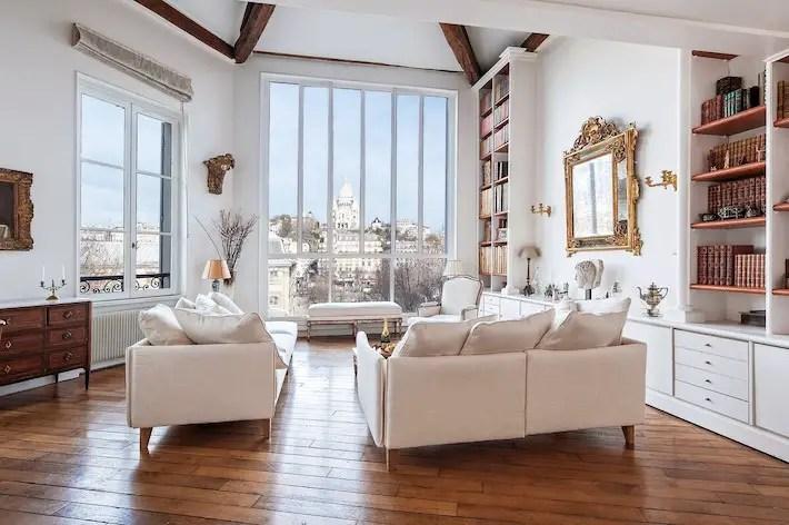 Romantic Airbnb In Paris With Montmartre & Sacre Couer Views Paris Loft Apartment For Rent Paris Chic Style