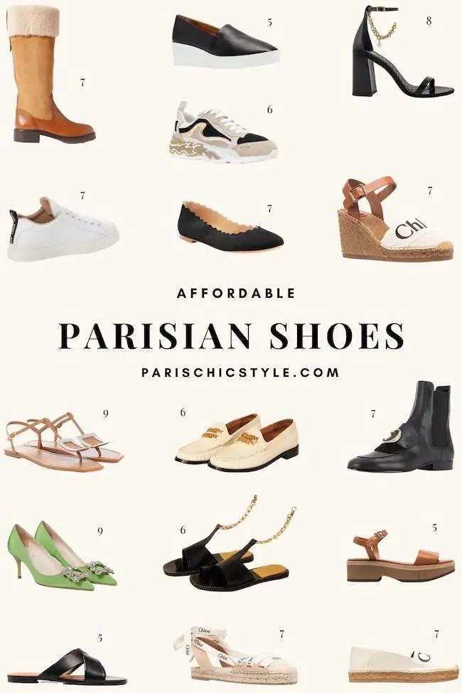 Affordable Parisian Shoes French Shoes French Shoe Brands Parisian Fashion Paris Chic Style