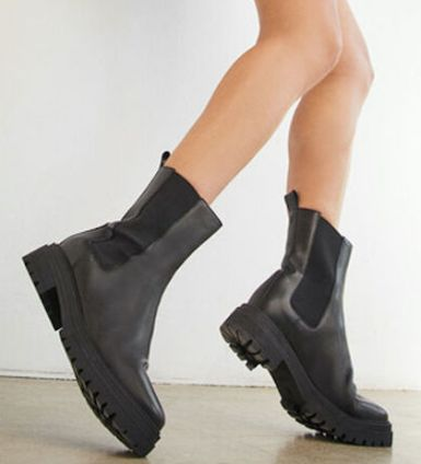Ba&sh Comfortable Stylish Black French Boots For Work, Walking Everyday Parisian Streetstyle Shoes Paris Chic Style