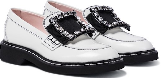 Roger Vivier White French Loafers French Girls Style Parisian Shoes For Walking Travel Paris Chic Style