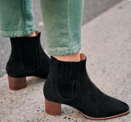 Sezane Parisian Fashion Shoes French Ankle Boots For Walking Work Travel Sightseeing Parisian Streetstyle Paris Chic Style