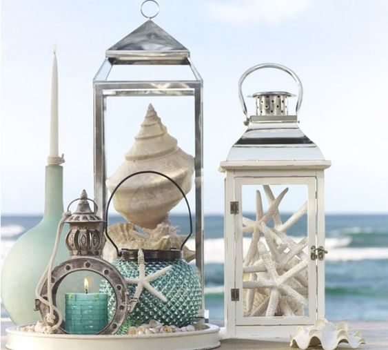 mariage-thème-bord-de-mer-lanternes-coquillage
