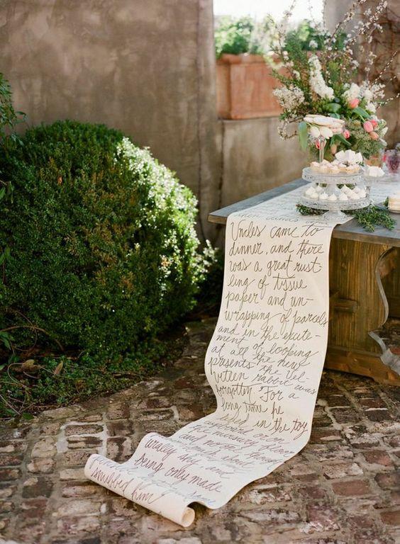 Thème-mariage-littéraire-chemin-de-table