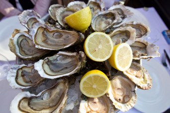 Paris Food And Wine - oysters fresh and lemons