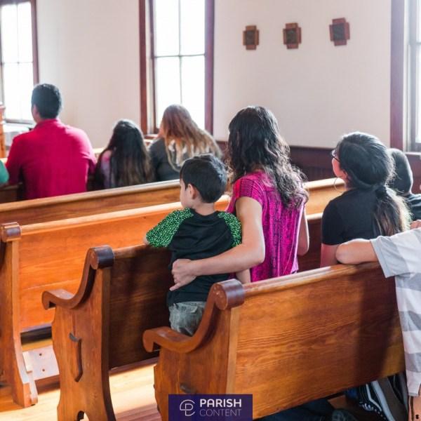 Parishioners During Mass