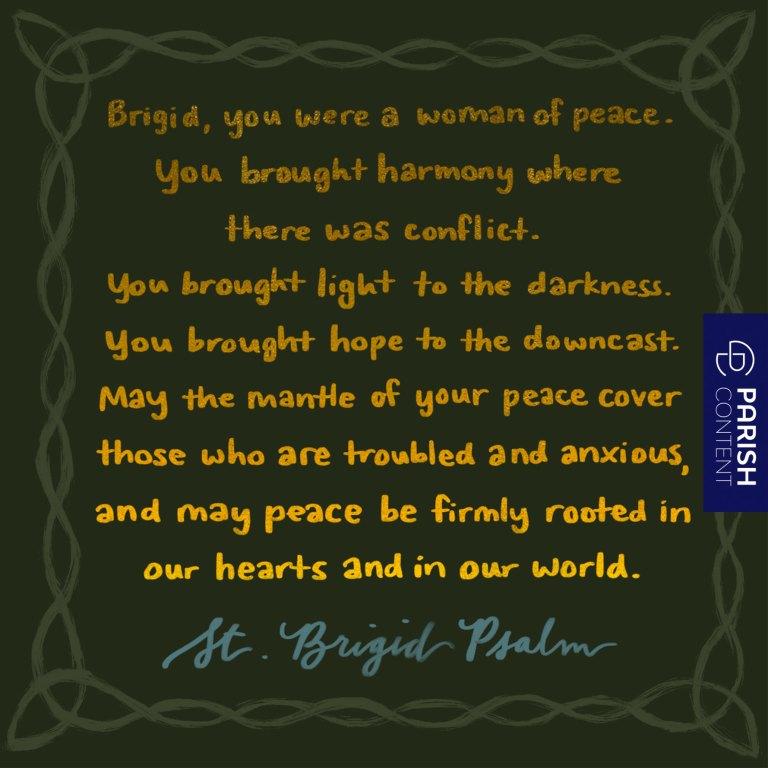 Socialpost St Brigid Psalm
