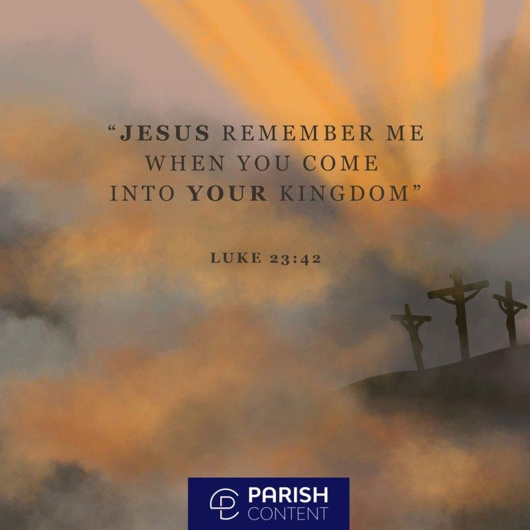 Socialpost Jesus Remember Me