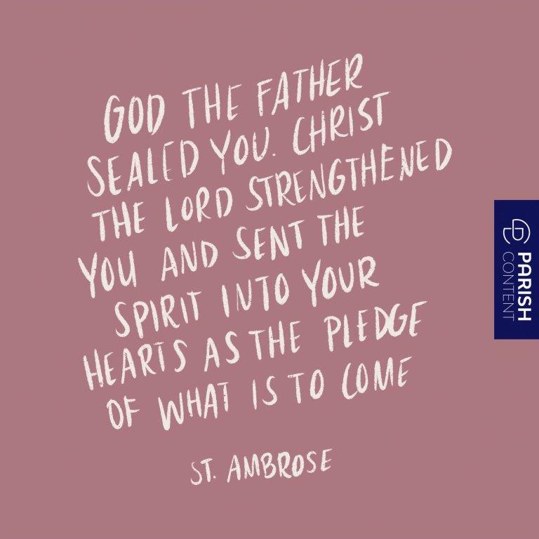 Socialpost The Sacrament Of Confirmation