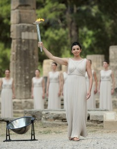 Olympic Flame for the London 2012 Games is lit in Ancient Olympia  © LOCOG
