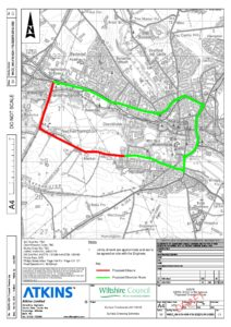 Plan of road closure