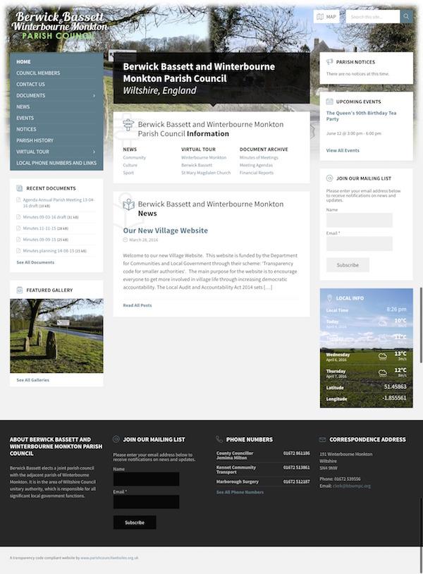 new parish council website