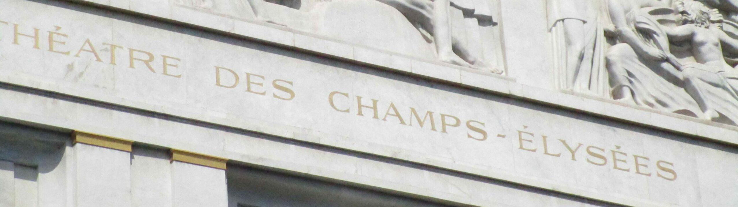 Read more about the article Le Théâtre des Champs-Élysées architecture