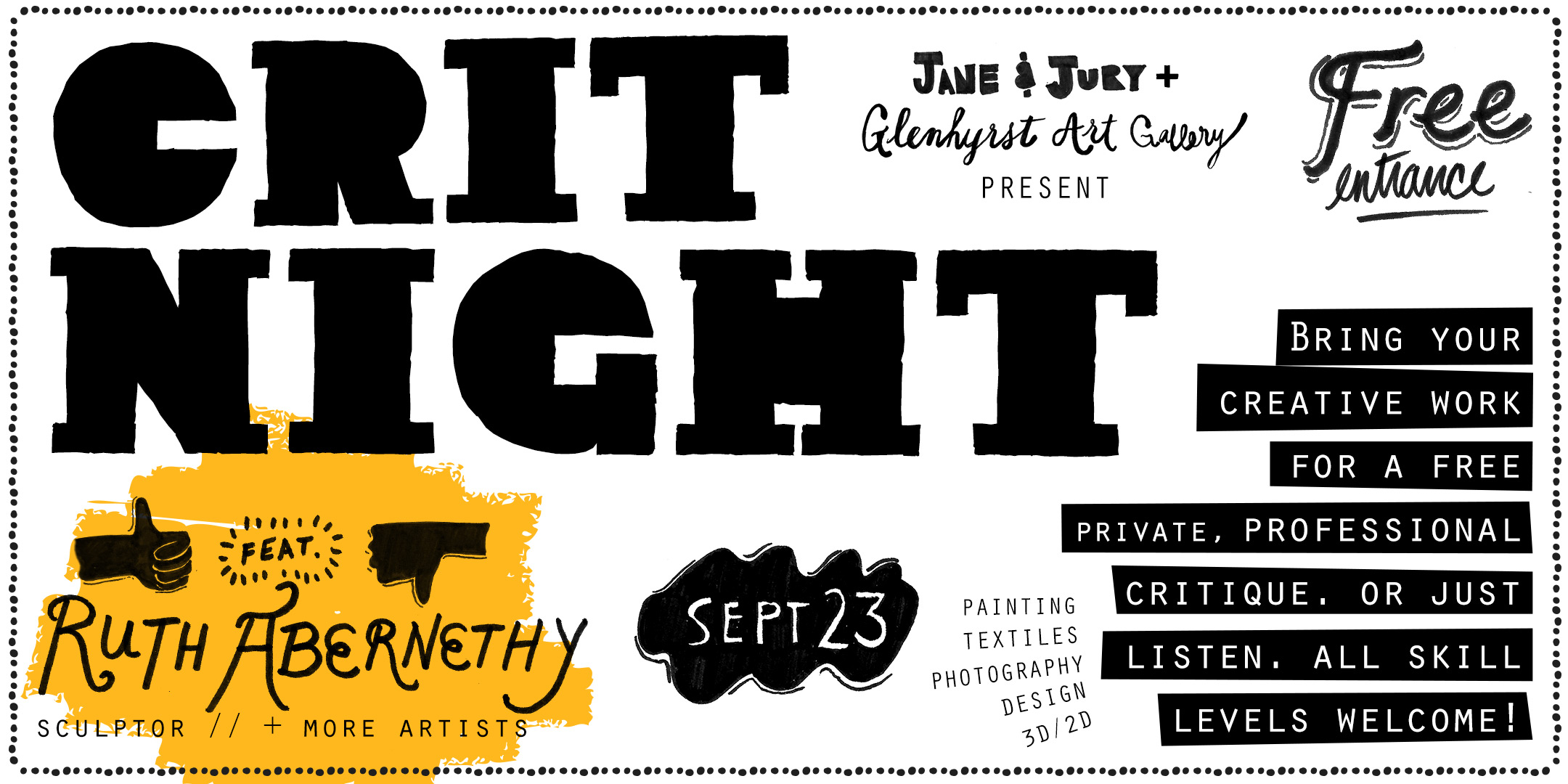 Crit Night with Glenhyrst Art Gallery