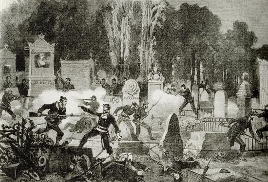 Père Lachaise Commune de Paris 1871 Vierge Robida Le Monde Illustré - Copie