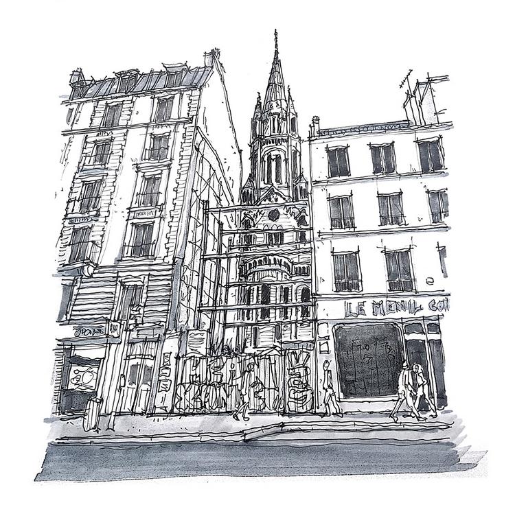 Rue de Ménilmontant, Paris 20° © Clément Gy