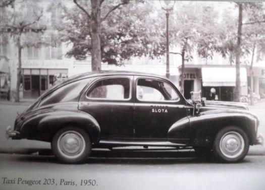 Taxi Peugeot, Paris, 1950
