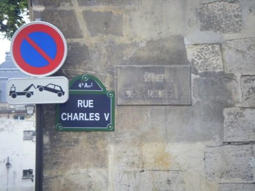 Plaque Rue Charles V