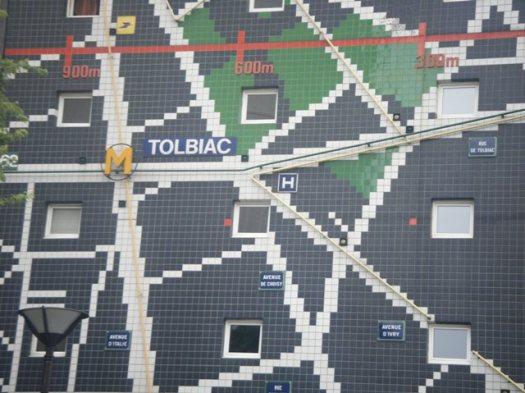 Façade plan de métro Rue Jean Colly