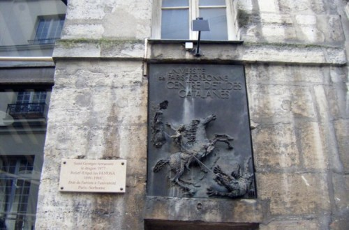 Relief de Saint Georges terrassant le dragon