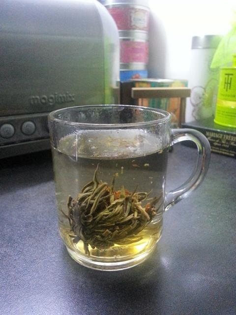Eclosion d'une fleur de thé