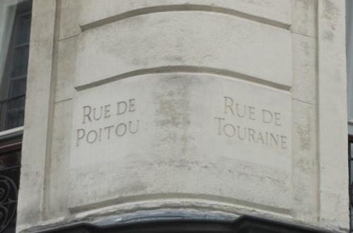 Noms de rue gravés Paris