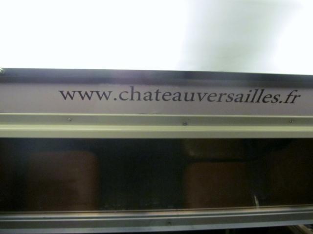 Rame de RER C décor Château de Versailles