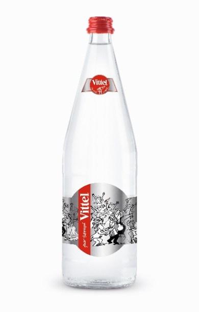 Sempé illustre les bouteilles d'eau Vittel