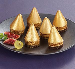 Mini sapins dorés au bloc de foie gras de canard Thiriet