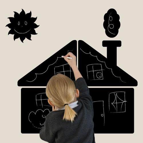 Cadeau enfant Stickers-ardoise maison Stikets Idée cadeaux
