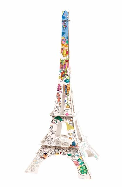 La Tour Eiffel à colorier La Plume de Louise (2)