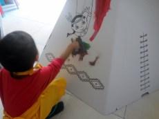 Tipi en carton Wiplii décoration (4)