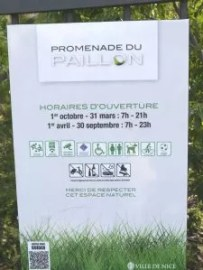 Opening hours for Paillon de Nice