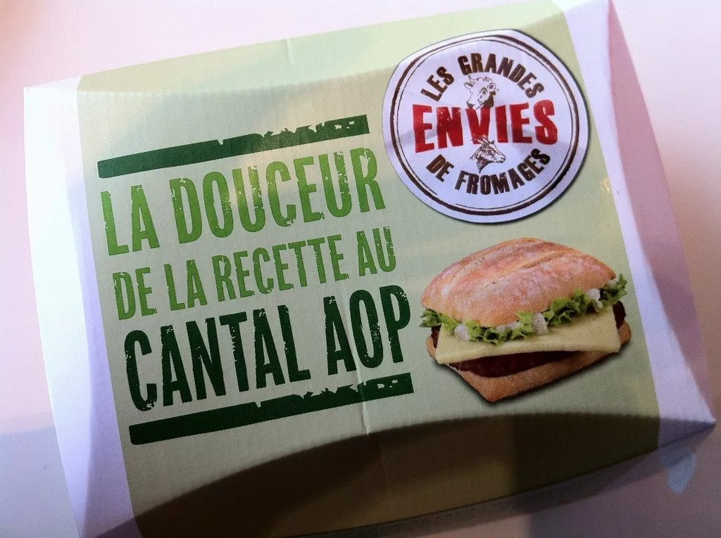 French burgers at McDonald's