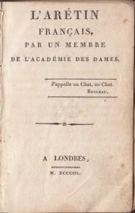 L'Aretin Title Page
