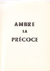 AMBRE LA PRÉCOCE Francis Flres 1956_0001