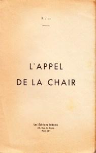 L'Appel de la Chair Editions ideales 1934_0002