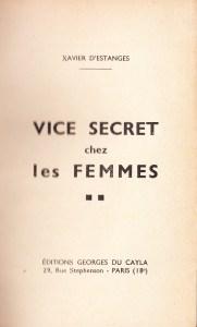 Vice Secret Georges Du Cayla 1935_0003