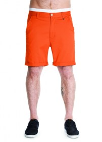Hot Coral Chino Shorts
