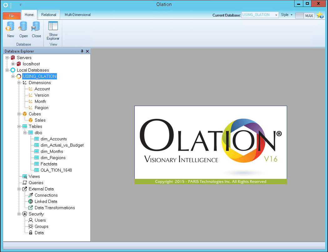 Olation interface