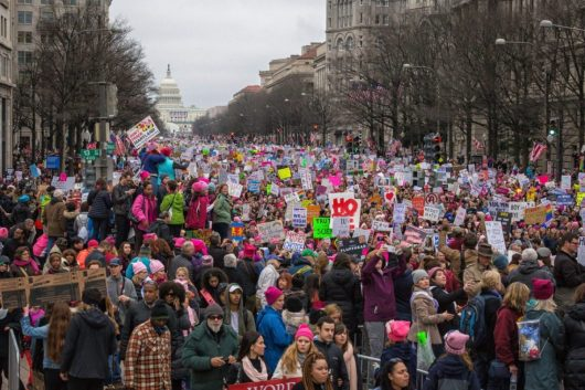 The Women's March in Washington, DC