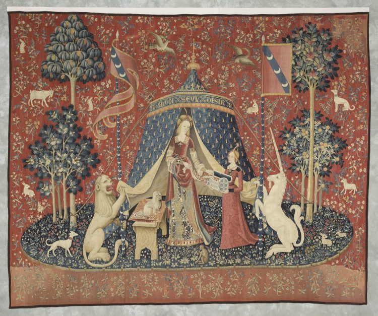 """Lady and the Unicorn, """"A mon seul désir"""", Musee Cluny, Paris"""