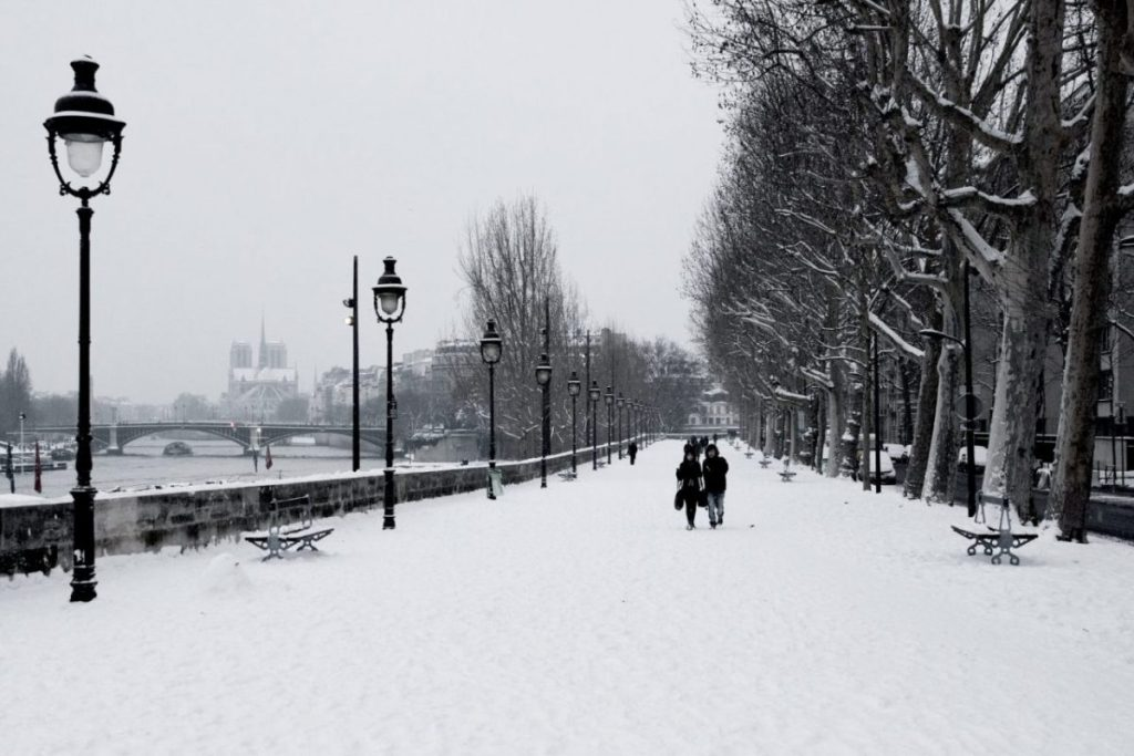 Paris in the winter: it doesn't actually snow very often.