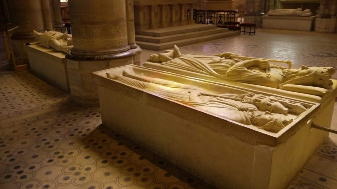 Recumbent effigies at Saint-Denis Basilica, outside Paris.