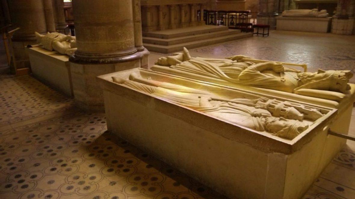 Recumbent effigies at Saint-Denis Basilica, outside Paris.