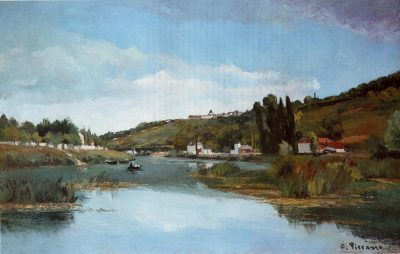 Camille Pissarro, The Marne at Chennevieres, circa 1864