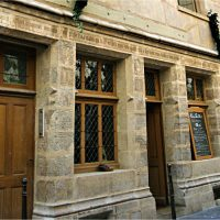 Nicolas Flamel's house in Paris, circa 1407, is the oldest standing building in Paris.